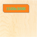 Фанера 1500х3000 мм